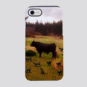 Bull With Herd Of Cats iPhone 8/7 Tough Case