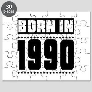 Born In 1990 Birthday Designs Puzzle
