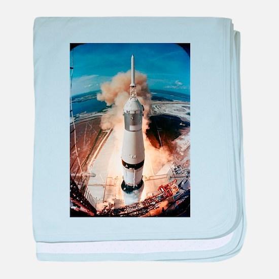 Apollo 11 launch baby blanket
