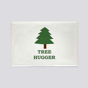 Tree Hugger Rectangle Magnet