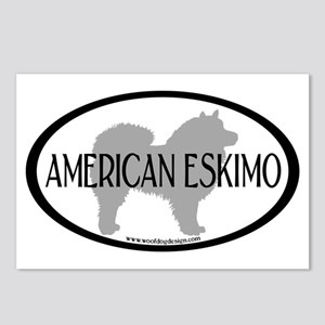 American Eskimo w/ Text Postcards (Package of 8)