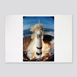 Apollo 11 launch 5'x7'Area Rug