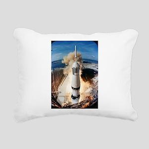 Apollo 11 launch Rectangular Canvas Pillow