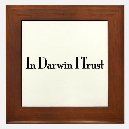 In Darwin I Trust Framed Tile