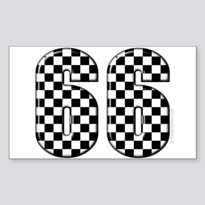 Motor Sport #66 Rectangle Sticker
