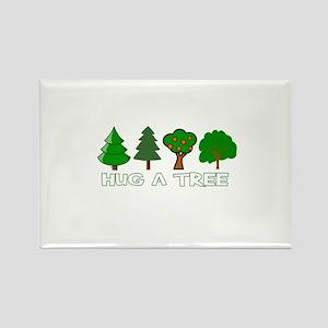 Hug a Tree Rectangle Magnet