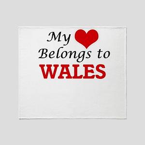 My Heart Belongs to Wales Throw Blanket