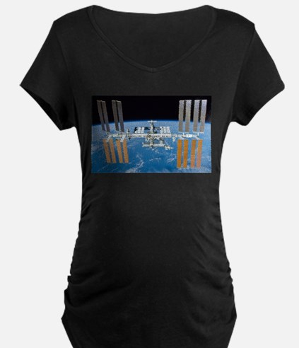 ISS, international space station Maternity T-Shirt