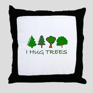 I Hug Trees Throw Pillow