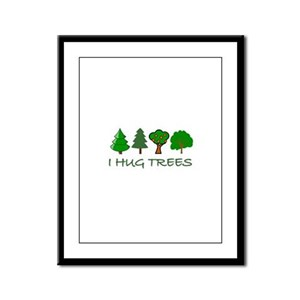 I Hug Trees Framed Panel Print