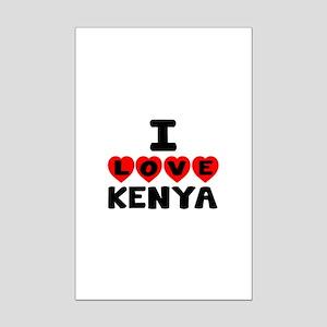 I Love Kenya Mini Poster Print