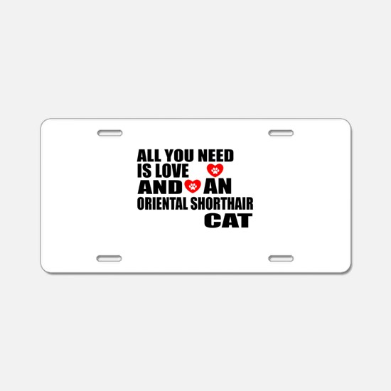 All You Need Is Love Orient Aluminum License Plate