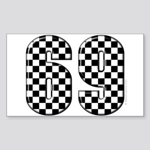 Motorsport #69 Rectangle Sticker