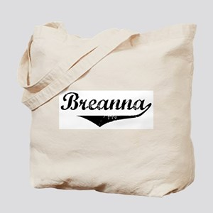 Breanna Vintage (Black) Tote Bag