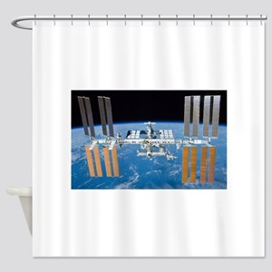 ISS, international space station Shower Curtain