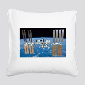 ISS, international space stat Square Canvas Pillow