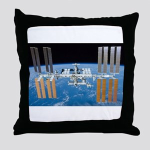ISS, international space station Throw Pillow