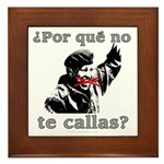 Hugo Chavez Shut Up! Framed Tile