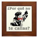 Hugo Chavez Shut Up! Framed Tile