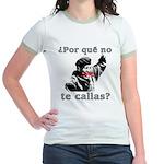 Hugo Chavez Shut Up! Jr. Ringer T-Shirt