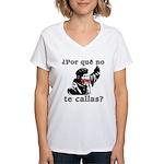 Hugo Chavez Shut Up! Women's V-Neck T-Shirt