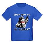 Hugo Chavez Shut Up! Kids Dark T-Shirt