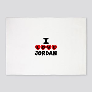 I Love Jordan 5'x7'Area Rug