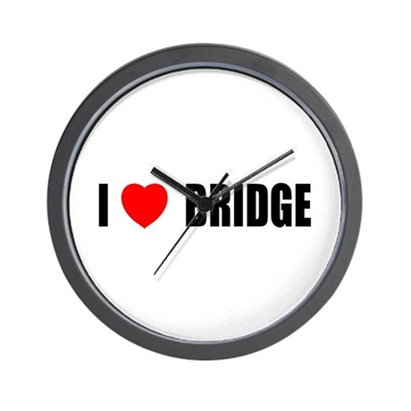 I Love Bridge Wall Clock