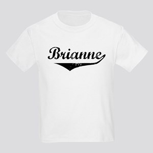Brianne Vintage (Black) Kids Light T-Shirt