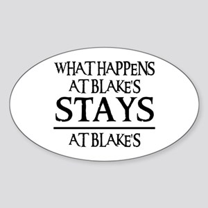 STAYS AT BLAKE'S Oval Sticker