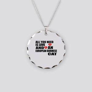 All You Need Is Love Europea Necklace Circle Charm