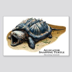 Alligator Snapping Turtle Rectangle Sticker