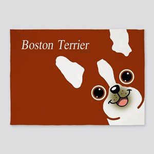 Boston Terrier 5'x7'Area Rug