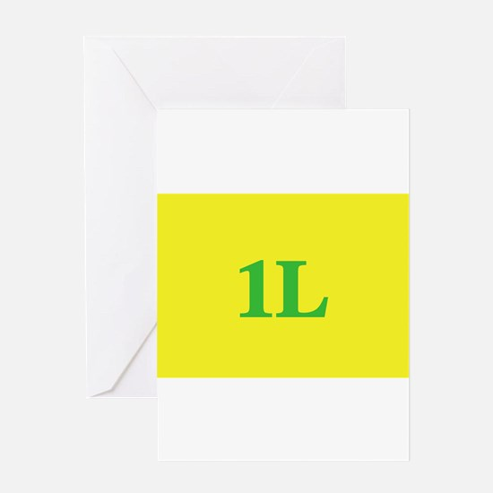 1L Gold/Green Greeting Cards