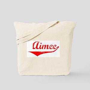 Aimee Vintage (Red) Tote Bag