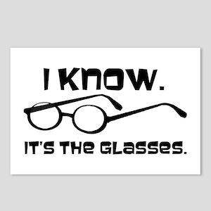 Black Glasses Postcards (Package of 8)