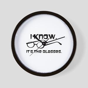 Black Glasses Wall Clock