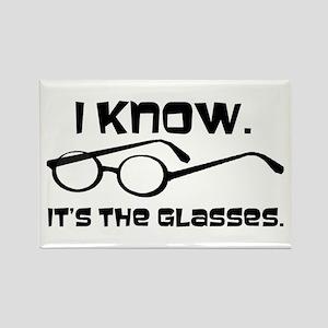 Black Glasses Rectangle Magnet