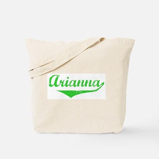 Arianna Vintage (Green) Tote Bag