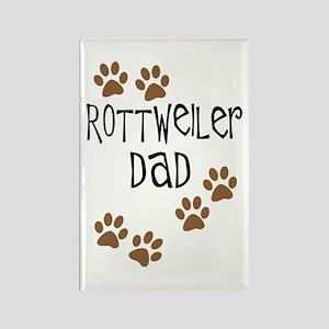 Rottweiler Dad Rectangle Magnet