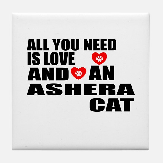 All You Need Is Love Ashera Cat Desig Tile Coaster
