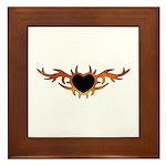 Flame Heart Tattoo Framed Tile