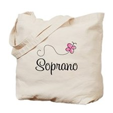 Cute Butterfly Soprano Tote Bag