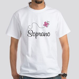 Cute Butterfly Soprano White T-Shirt