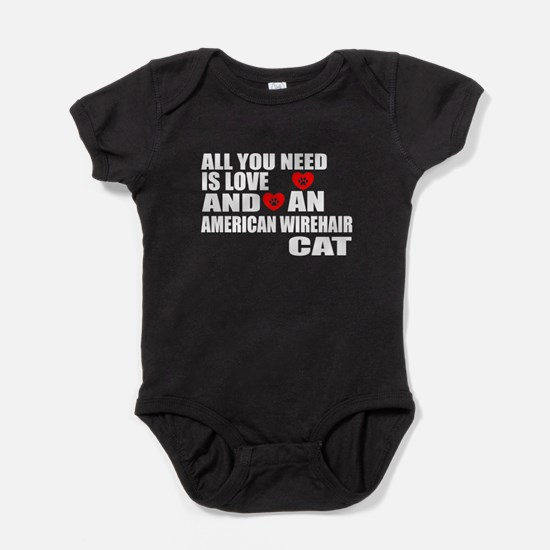 All You Need Is Love American Wireha Baby Bodysuit