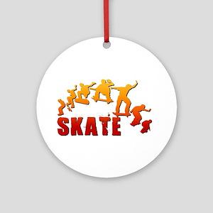 Skate Ornament (Round)