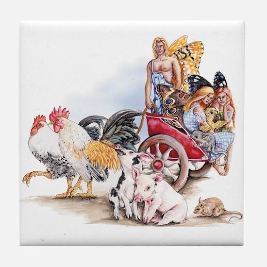 Hayride Tile Coaster