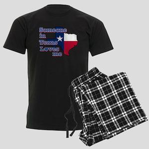 someone in texas loves me Men's Dark Pajamas