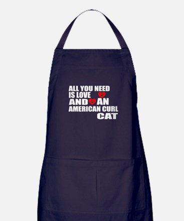 All You Need Is Love American Curl Ca Apron (dark)