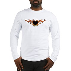 Flame Heart Tattoo Long Sleeve T-Shirt